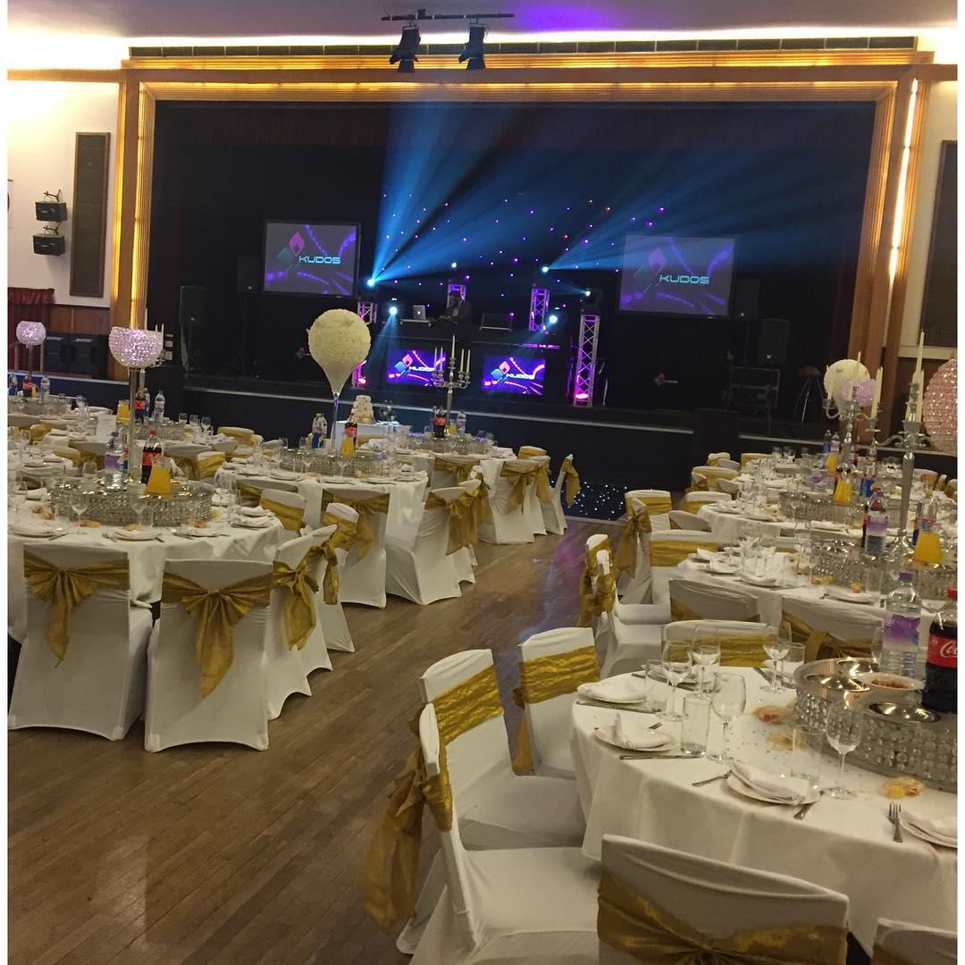 All ready for today's wedding in Blackshots Leisure Centre Grays.. @djdal @kudosmusic alongside @4x4bhangra @drumologistent @johalcatering @indibhambra @albert_masih @mytreatscompany @drumologist_ent